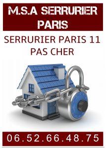 Serrurier Paris 11 pas cher