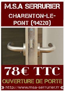 Serrurier Charenton Le Pont
