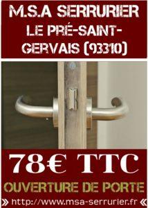 Serrurier Le Pré Saint Gervais